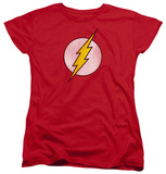 Womens: The Flash - Flash Logo Distressed Shirts