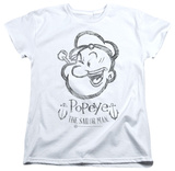 Womens: Popeye - Sketch Portrait Shirts