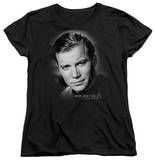 Womens: Star Trek - Captain Kirk Portrait T-shirts