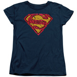 Womens: Superman - Shattered Shield T-shirts