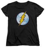 Womens: The Flash - Flash Neon Distress Logo T-Shirt