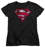 Womens: Superman - War Torn Shield Shirts