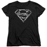Womens: Superman - Urban Camo Shield Shirts