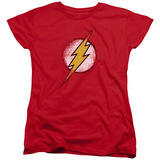 Womens: The Flash - Destroyed Flash Logo Shirts