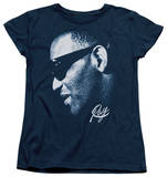 Womens: Ray Charles - Blue Ray T-shirts