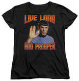 Womens: Star Trek - Live Long And Prosper T-shirts