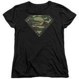 Womens: Superman - Camo Logo T-shirts