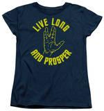 Womens: Star Trek - Live Long Hand Shirts