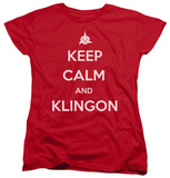 Womens: Star Trek - Calm Klingon Shirts
