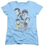 Womens: Star Trek - Retro Crew T-shirts