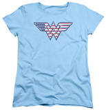 Womens: Wonder Woman - Red,White & Blue Shirts