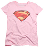 Womens: Man Of Steel - New Solid Shield T-shirts