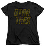 Womens: Star Trek - Distressed Logo Shirt