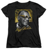 Womens: Ray Charles - Golden Glasses T-shirts