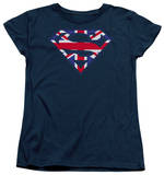 Womens: Superman - Great Britian Shield T-shirts