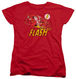 Womens: The Flash - Crimson Comet T-shirts