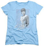 Womens: Lucille Ball - Blue Lace T-shirts