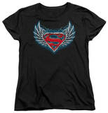 Womens: Superman - Steel Wings Logo T-Shirt