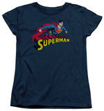 Womens: Superman - Flying Over T-Shirt
