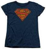 Womens: Superman - Messy S T-Shirt