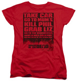 Womens: Shaun Of The Dead - List T-shirts