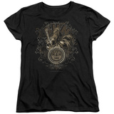 Womens: Sun Records - Scroll Around Rooster T-Shirt