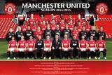 Manchester United Team 14/15 Kunstdrucke