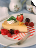 Cheesecake with Fruits Prints by John T. Wong
