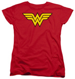 Womens: Wonder Woman - Wonder Woman Logo Shirts