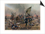 Battle of Zorndorf Friedrich Der Grosse Leads His Soldiers Print by C. Rochling