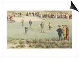 Tense Moment During a Championship Match at the Royal Sydney Golf Club Links Australia Art by Percy F.s. Spence