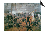 Captain Hickenlooper's Battery in the Hornet's Nest at the Battle of Shiloh, April 1862 Prints by T. C. Lindsay