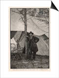 Ulysses S Grant American Civil War General at Headquarters During the Virginia Campaign Prints by H. Vetten