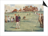 Golfers Golfing at the Royal Sydney Golf Club Links Posters by Percy F.s. Spence