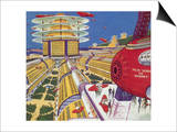 Sci Fi - Futuristic City, 1934 Posters by Frank R. Paul