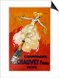 Poster for Chauvet Champagne Poster by J. J. Stall