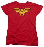 Womens: Wonder Woman - Wonder Woman Logo Dist T-shirts