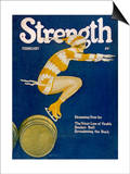 Strength: Girl Ice Skating over Barrels Posters by W.n. Clyment