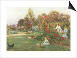 In the Artist's Garden, Yapton, Sussex Print by Thomas J. Lloyd