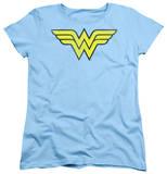 Womens: Wonder Woman - Wonder Woman Logo Distressed T-shirts
