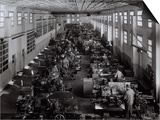 Many Workers Operating Machinery at the Ferrari Factory Art by A. Villani