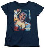 Womens: Wonder Woman - Scowl T-Shirt