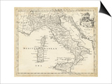 Map of Italy Prints by T. Jeffreys