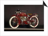 1915 Indian Big Twin Art by S. Clay