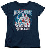 Womens: Wonder Woman - American Heroine Shirts