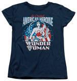 Womens: Wonder Woman - American Heroine T-shirts