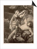 To Punish Loki the Aesir Print by M.e. Winge