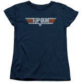 Womens: Top Gun - Distressed Logo T-shirts
