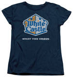 Womens: White Castle - Distressed Logo T-shirts
