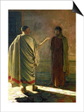 What is Truth (Christ and Pilate) 1890 Prints by Nikolai Nikolaevich. Ge